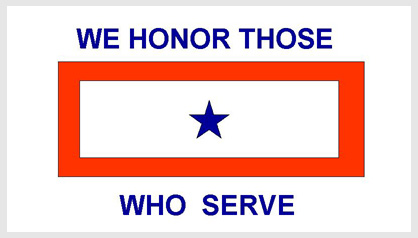 blue star service flag - photo #24